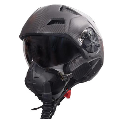 Jet fighter flight helmet