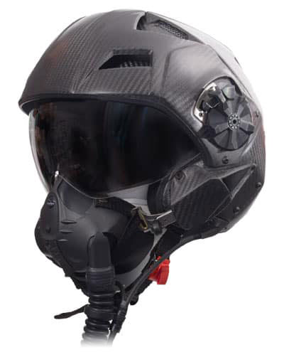 Jet fighter flight helmet with oxygen mask