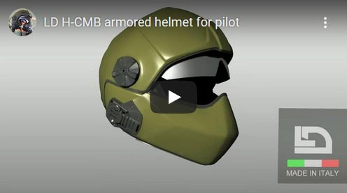 See modular ballistic flight helmet on YouTube