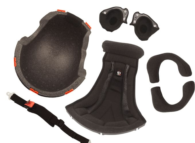 shock absorber and liners for flight helmet