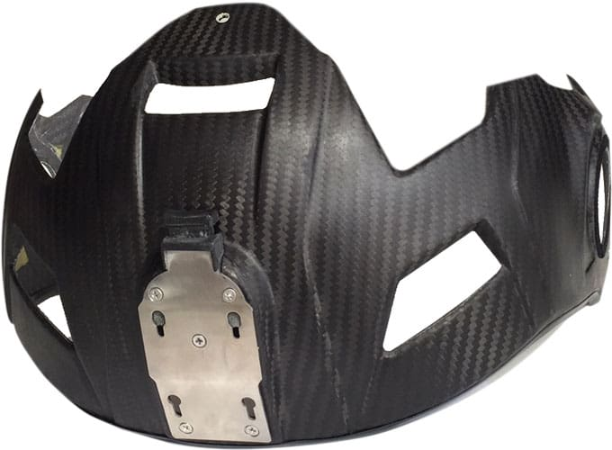 Visor housing with ANVIS plate for H-CMF flight helmet
