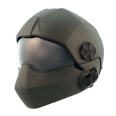 Ballistic flight helmet with maxillo faceshield