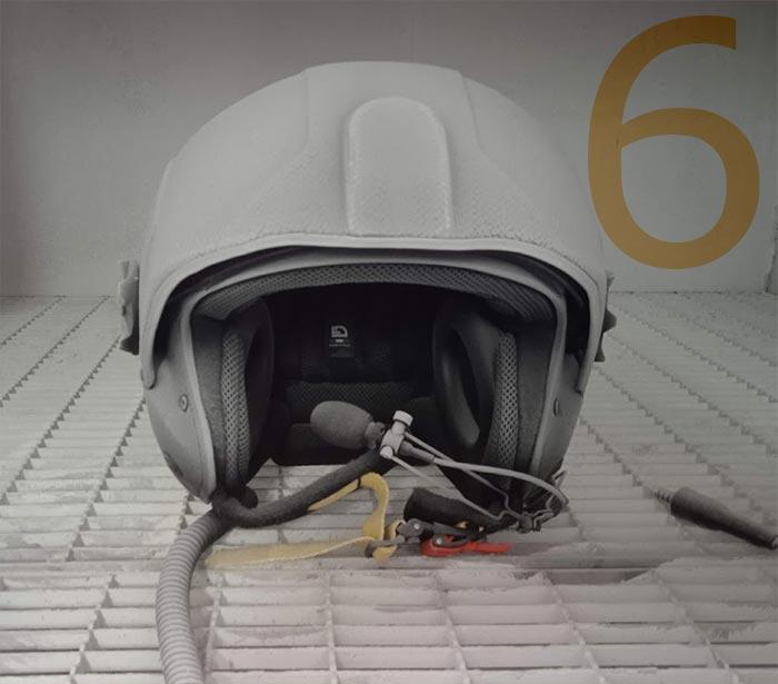 IP 67 helicopter helmet dustproof test