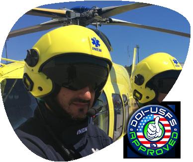 helicopter helmet doi certified