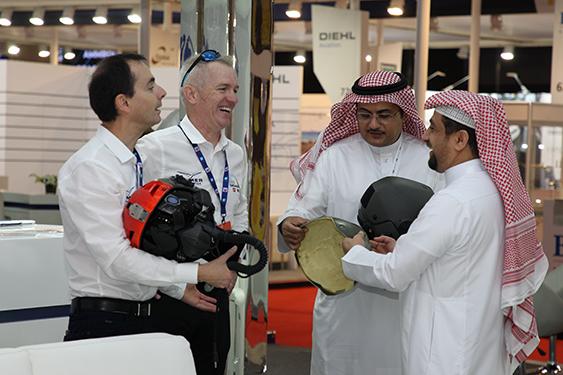 Dubai air show flight helmets